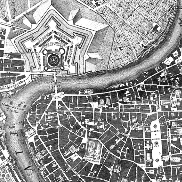 A glimpse at Giambattista Nolli's historic Rome plan
